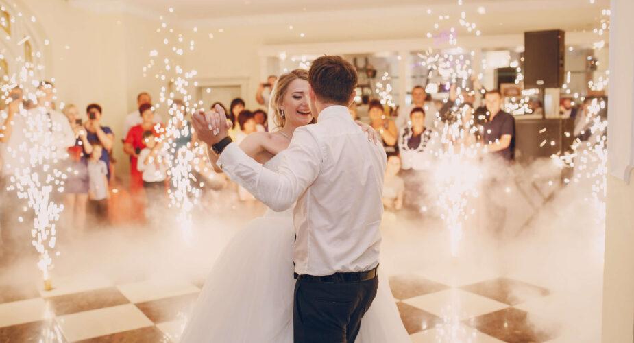 pirotechnika na wesele pierwszy taniec