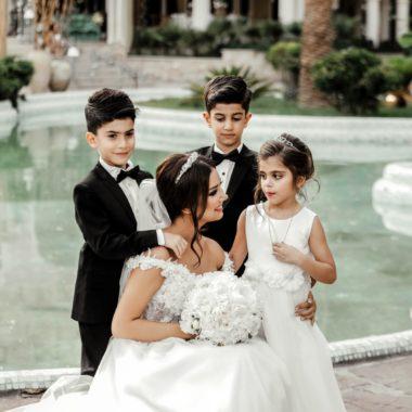 Pani Młoda i Dzieci na ślubie