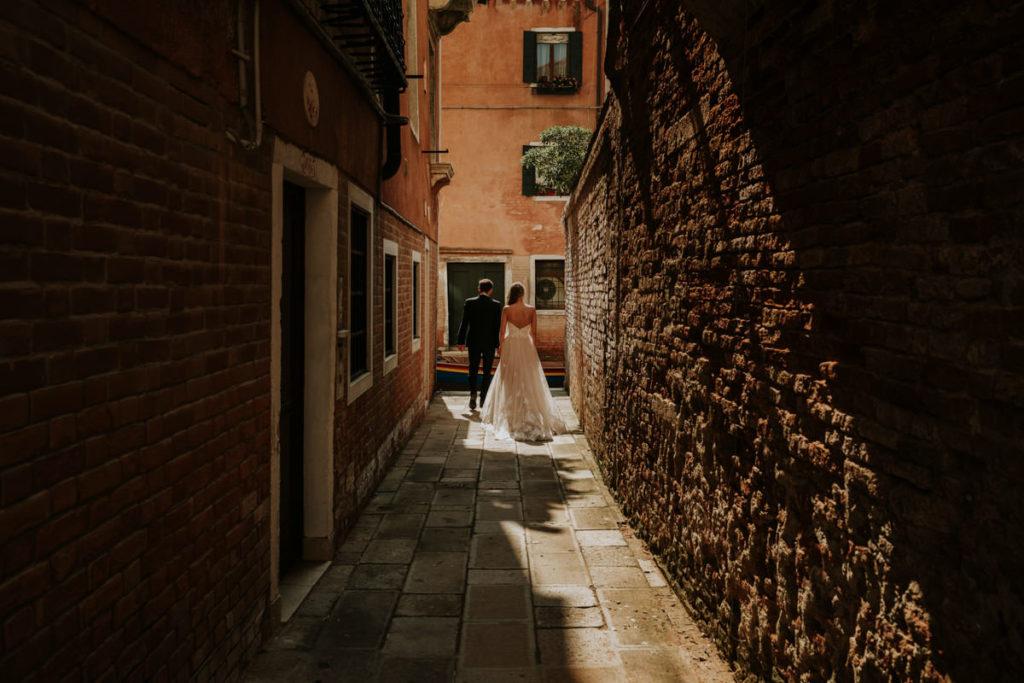 fotografia ślubna pary młodej z wenecji